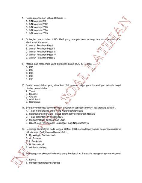 Soal Cpns 2017 Beserta Jawabannya Kumpulan Soal Latihan Un Unbk Sma Tahun 2018