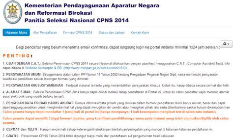 Soal Cpns 2017 Cat Panselnasmenpangoid Situs Pendaftaran Resmi Cpns Online