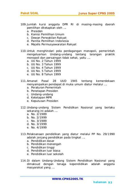 Soal Cpns 2017 Pdf Pembahasan Soal Cpns Dan Tryout Cpns Indonesia