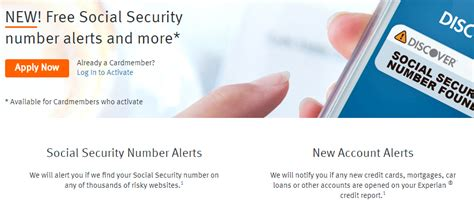 Credit Card Authorized User Social Security Number Social Security Number And New Account Alerts Discover Card