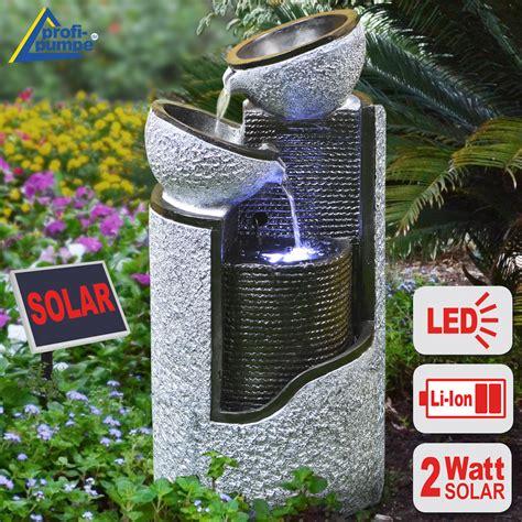 Solar Brunnen Garten Granit