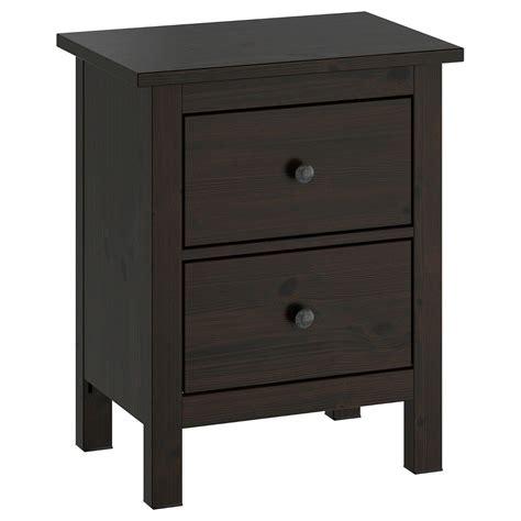 Solid Oak Night Stands Hemnes Nightstand Black Brown Ikea