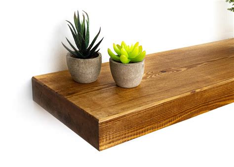 Solid Timber Floating Wall Shelf