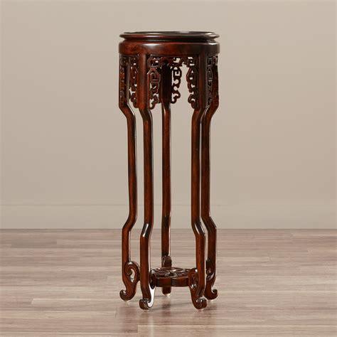 Solid Wood Mahogany Pedestal Plant Stand