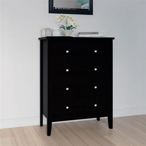 Solid Wood Chest Of Drawers Black