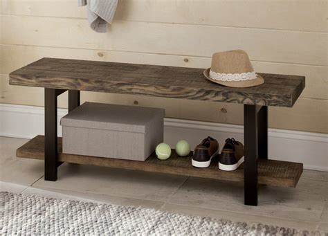 Somers Reclaimed Wood/Metal Storage Bench