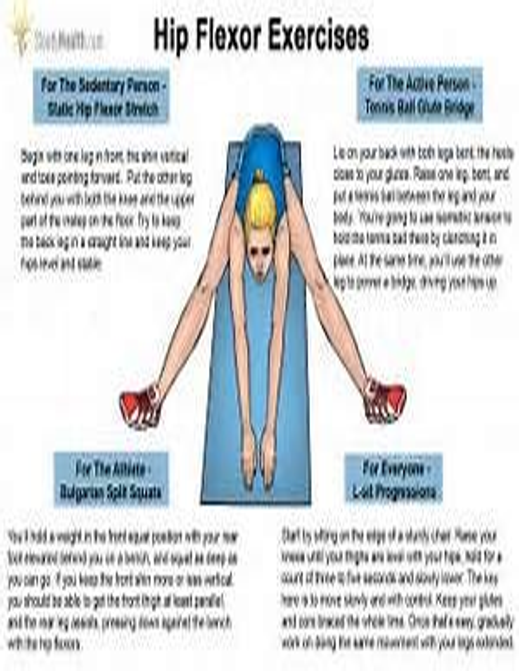 sore hip flexor muscles stretches for plantar fibromatosis