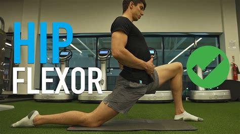 sore hip flexor stretches youtube