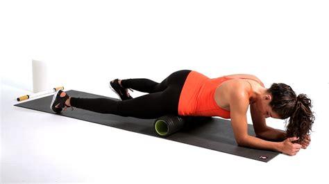 sore hip flexor stretches youtube foam roller