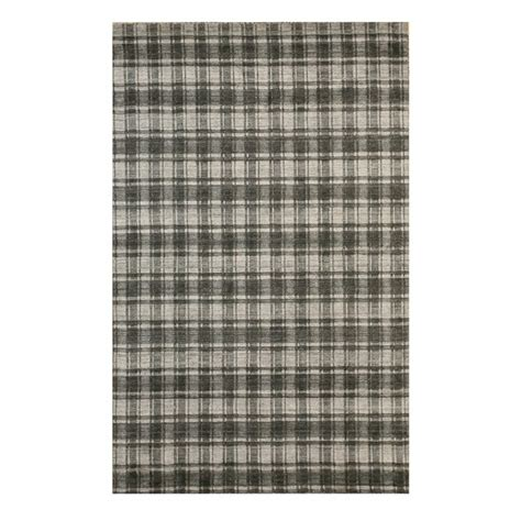 Southwell Hand-Knotted Bamboo Slat/Seagrass Gray/Black Area Ru by