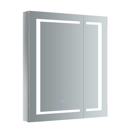 "Spazio 24"" x 36"" Recessed or Surface Mount Frameless Medicine Cabinet with LED Lighting and Defogge by"
