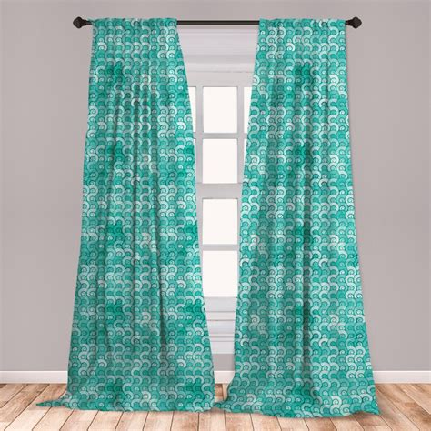 Spherical Abstract Room Darkening Rod Pocket Curtain Panels (Set of 2 by