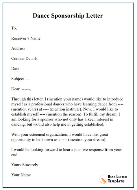 sponsor letter for tourist visa application sample letter of support for tourist visa application