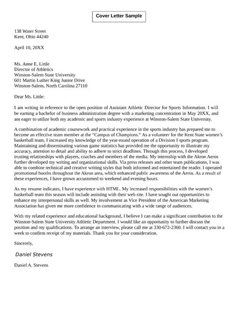 sports internship cover letter cover cover letter example cover