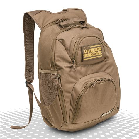 Gunkeyword Springfield Armory Tactical Black Backpack.