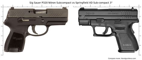 Sig-P320 Springfield Xds Vs Sig P320 Subcompact Size Comparison.