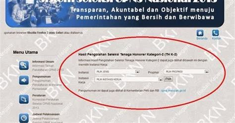 Sscnbkngoid Pengumuman Honorer K2 Akhirnya Kategori K2 Diumumkan Resmi Menpan Terbaru