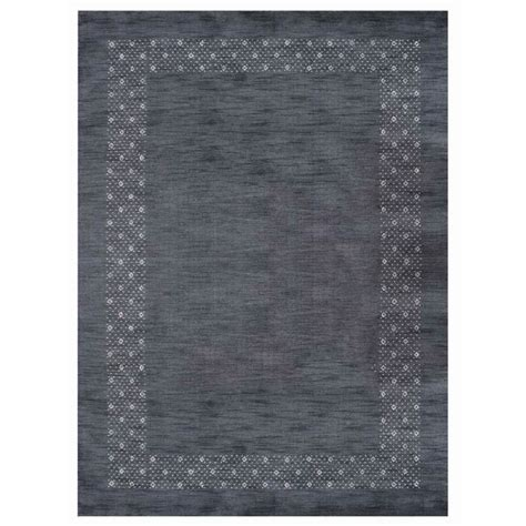 St Catherine Hand-Knotted Wool Charcoal Area Ru by