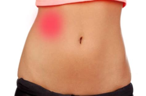 stabbing pain in lower right side of abdomen and back