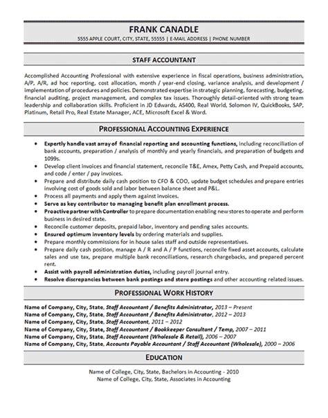 sample resume for staff accountant sample resume accountant