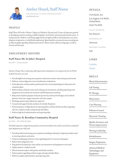 Sample Nursing Resume   RN Resume   Computers  The o jays and Blog resumes cv examples free