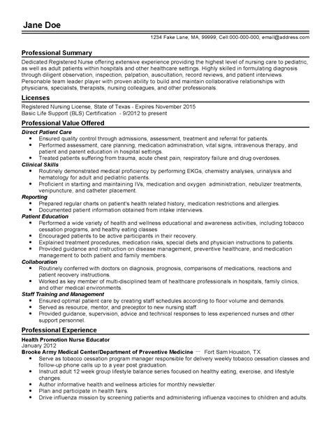 Staff Nurse Sample Resume Work Experience Nurse Educator Resume Sample