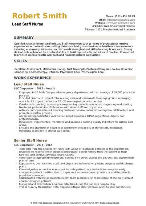 med surg nurse resumes