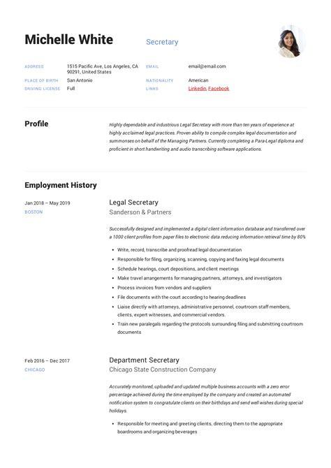 staff secretary resume secretary resume sample resume for secretary