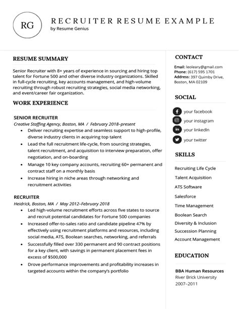 staffing recruiter resume examples resume format objective sample staffing recruiter resume