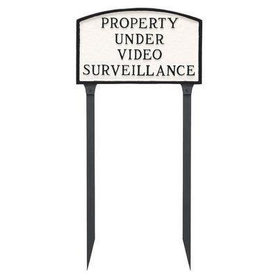 Standard Arch Property Under Video Surveillace Statement Garden Sign