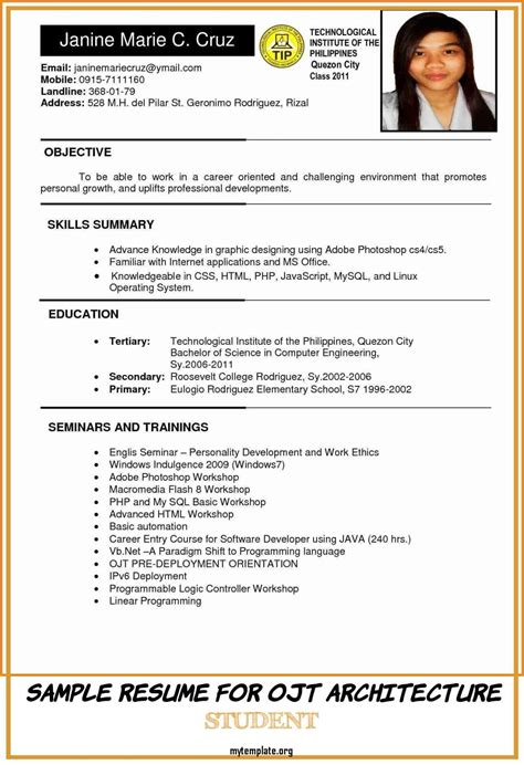 Standard Resume Format Philippines Sample Resume Philippines Essay 309 Words