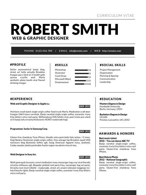 resume format standard