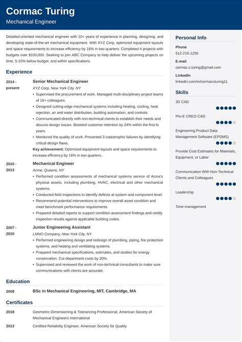 standard technical resume format technology resume samples monster career advice
