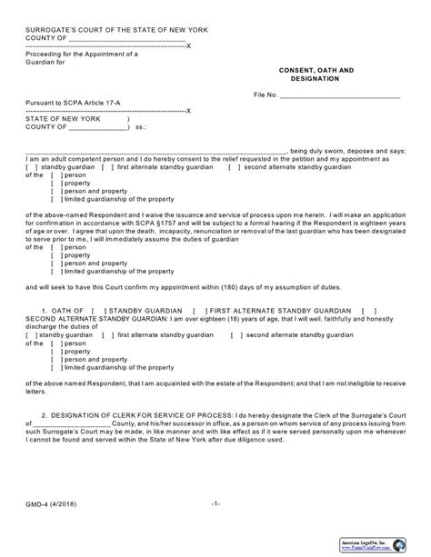 Standby Guardianship Form Washington | Standard Resume Format Pdf
