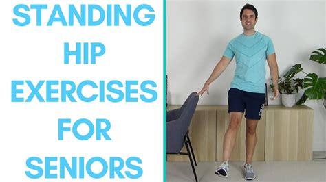 standing hip exercises elderly with swollen feet
