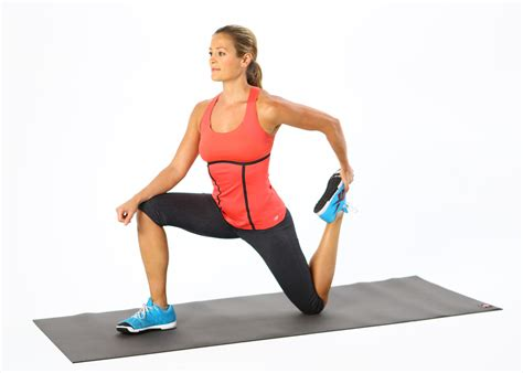 standing hip flexor stretch exercises before running