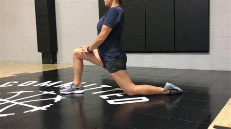 static hip flexor stretch video ccacc chinese