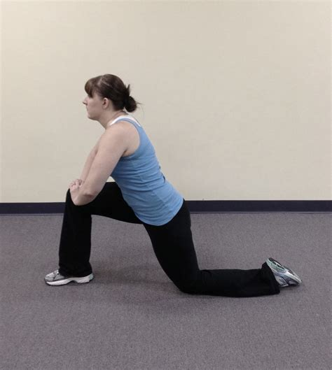 static hip flexor stretch video images