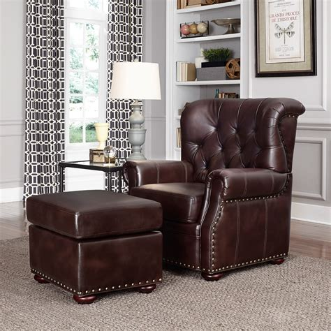 Stationary Club Chair And Ottoman