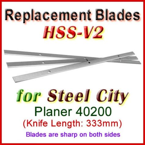 Steel City Planer Replacement Blades