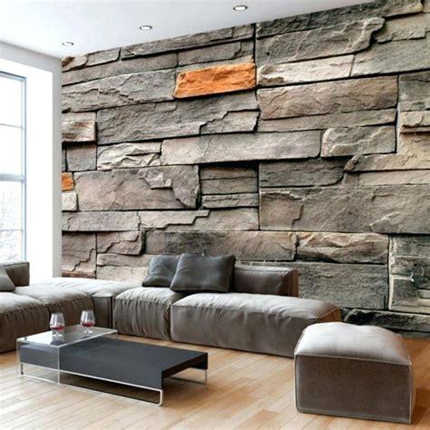 Steinwand Tapete Wohnzimmer