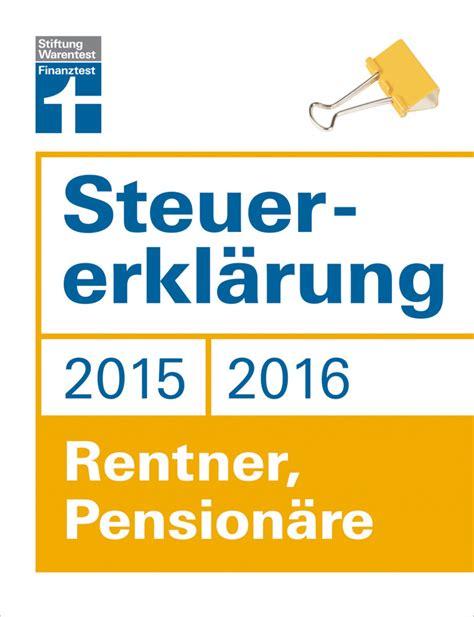 Steuererklärung 2016 Für Rentner
