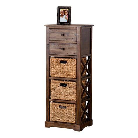 Stimson 2 Drawer Storage Chest 3 Basket Storage Tower