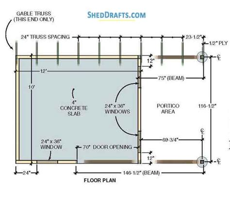 Storage Building Floor Plans