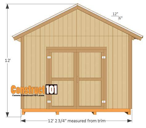 Storage Building Plans Free 12x16