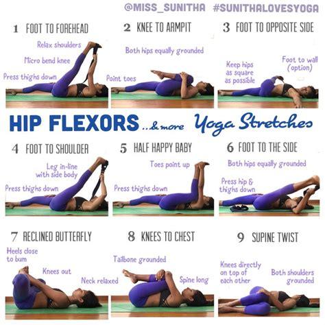 stretch hip flexors poses de yoga de 2 para