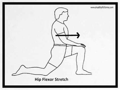 stretch hip flexors poses reference cartoon