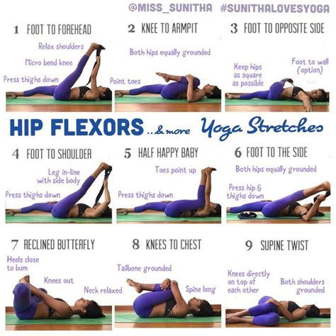 stretch hip flexors poses reference cartoon pictures