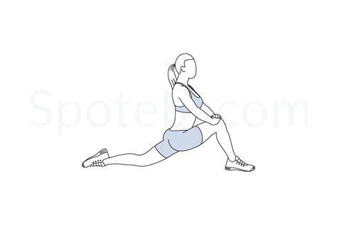 stretch hip flexors poses reference cartoons