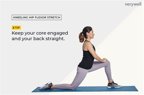 stretch your hip flexors by leaning against refrigerators with bottom